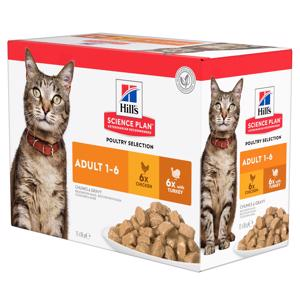 Hills Science Plan Adult Poultry Selection Cat Vådfoder12x85g